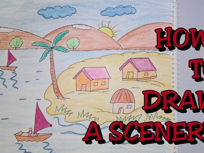 Drawing tutorial : how to draw scenery || Step by step drawing for kids||easy [creative ideas]