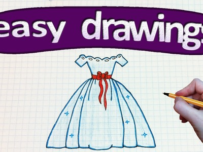 Easy drawings #208  How to draw a Princess's dress