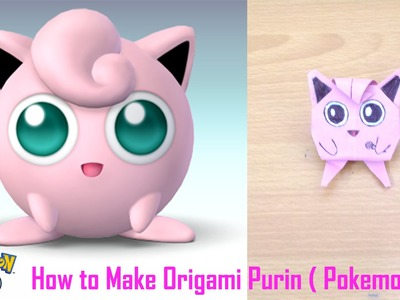 Easy Origami Tutorial - How to Make Origami Purin ( Pokemon GO )