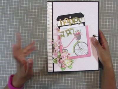 Girl Pink Cupcake Scrapbook Mini Album Review: All Occasion 2