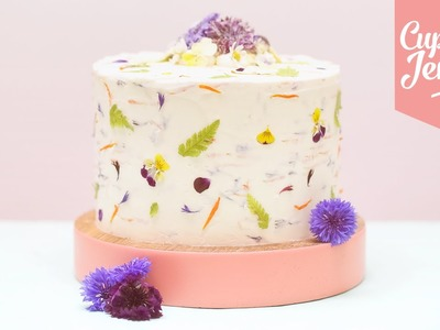GROWWILD! How to use Real Edible Flowers to Decorate your Cakes | Cupcake Jemma