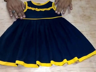 How To Cutting And Sweing Baby Doll Frock