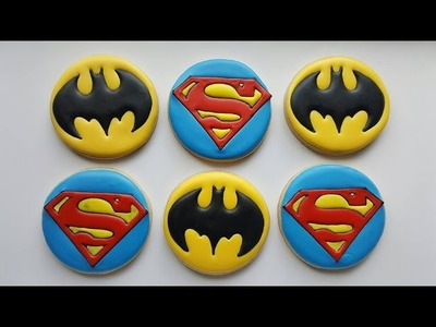 How to decorate a Superman inspired sugar cookie