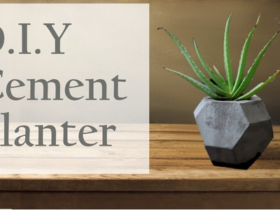 How To DIY Cement Planter