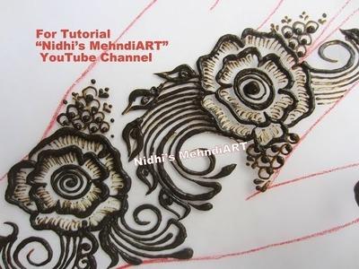How to Do Shading in Rose Flower Arabic Henna Mehndi Design Tutorial