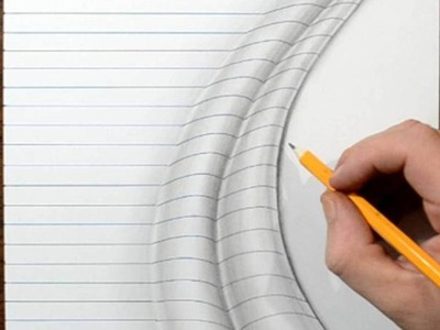How to Draw Line Paper Folds Trick Art - Narrated Tutorial