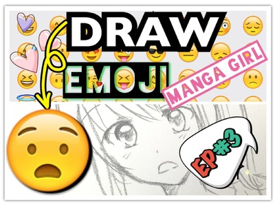 How to draw manga girl - Emoji Drawing Challenge #3 AngieARTmanga