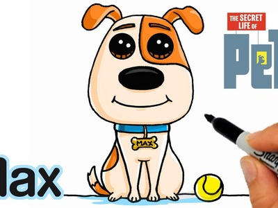How to Draw Max EASY step by step - The Secret Life of Pets