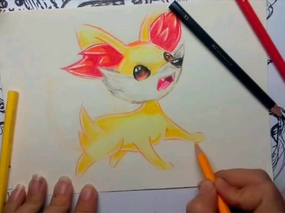 How To Draw Pokemon : Speed Drawing Kawaii Fennekin(Fokko)