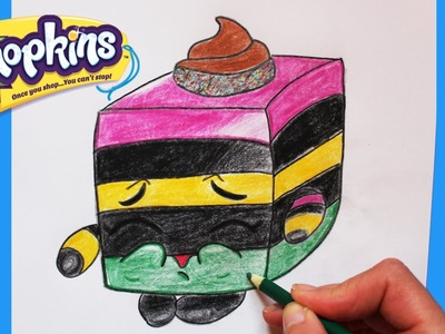 """How to Draw Shopkins Season 1 """"Le'quorice"""" Step By Step Easy 