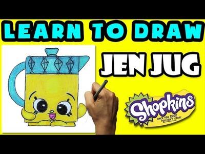 How To Draw Shopkins SEASON 5: Jen Jug, Step By Step Season 5 Shopkins Drawing Shopkins