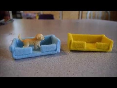 How to Make a Dog Bed for a Schleich Dog