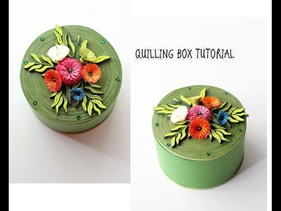 How to make a Quilled box.Quilling box tutorial