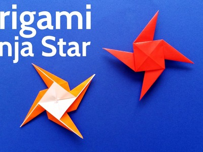 How to Make an Origami Ninja Star. Shuriken. Pinwheel. Windmill - Easy Tutorial