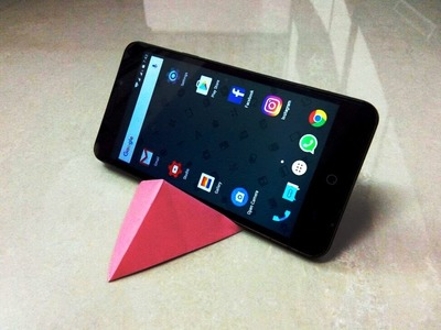 How to make an origami paper mobile phone stand | Origami. Paper Folding Craft, Videos & Tutorials.