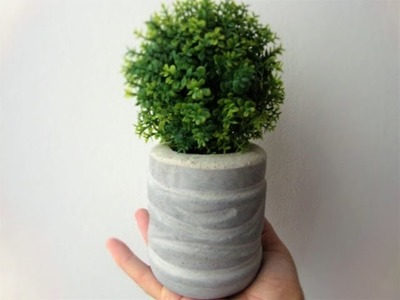 How to make cement pots with disposable bottles_con botellas desechables