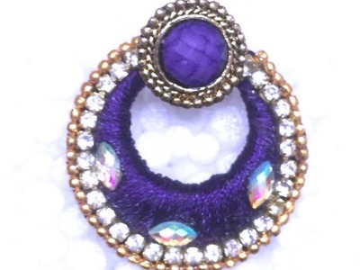 How to make Chandbali silk thread earrings !!!!!