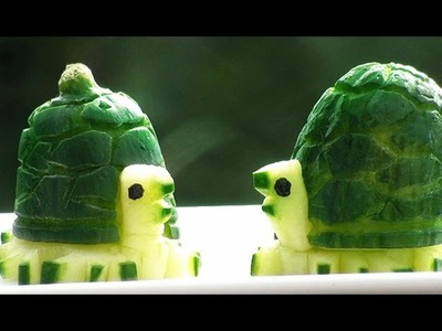 How To Make Cucumber Turtles | Vegetable Carving Garnish | Party Food Ideas | Food Decoration