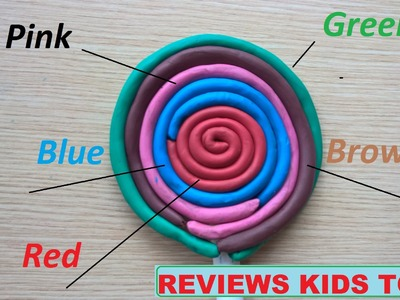 How To Make Giant Play Doh Lollipops - Rainbow learning color