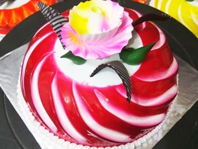 How to make icing on cake   how to decorate a cake. beautiful cake decoration
