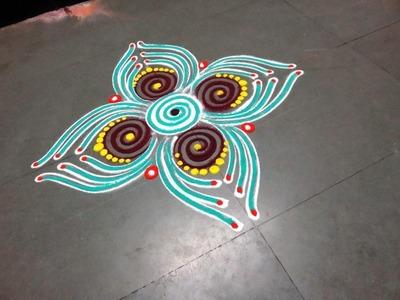 How to make new latest rangoli design - created by latest rangoli