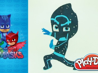 How to make Ninja night PJMASKS villain in Play-Doh modeling clay Blue