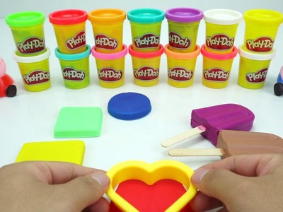 How to Make Play Doh Ice Cream Popsicles   Play Dough Art   Creative Fun for Kids  RainbowLearning