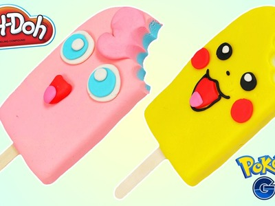 How to Make PLAY DOH Pikachu & Jigglypuff Popsicles Fun & Easy DIY Play Dough Dessert!