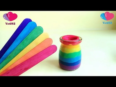 How To Make Rainbow Play Doh Jar Sticks Clay Colors Orbeez Surprise Eggs Toys | Finger Family Song