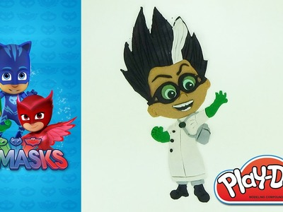 How to make Romeo PJMASKS villain in Play-Doh modeling clay Blue