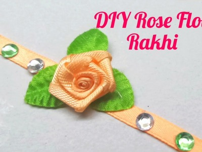 How to make Rose Flower for Raksha Bandhan. Rakhi DIY Rakhi Making. Indian Rakhi Design. Special