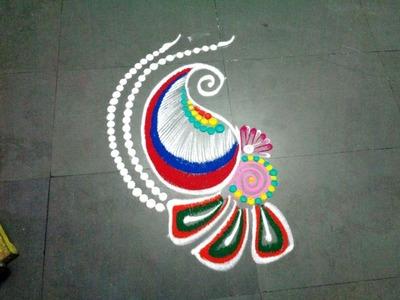 How to make small fancy rangoli design