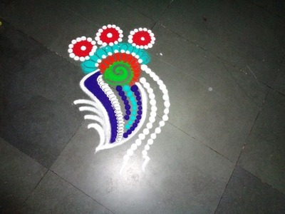 How to make small fancy rangoli design   created by latest rangoli