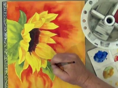 How To Paint A Sunflower In Watercolor Part 2