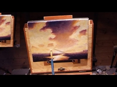 How To Paint An Epic Sunset - Acrylic Painting Lesson For Beginners In Real Time