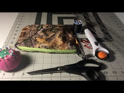 How to sew Zipper Pouch Tutorial, EASY!