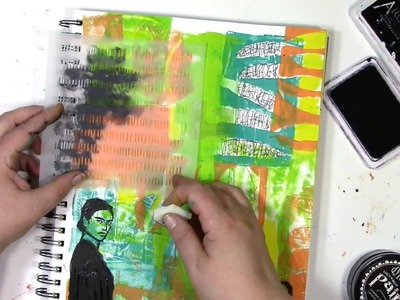 How to use a Gelli print® in your art journal