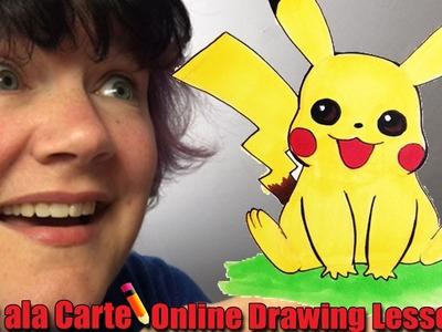 I choose you, Pikachu!  How to draw a Pikachu