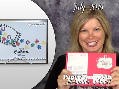 July 2016 Paper Pumpkin card kit Giveaway, & Alternate Card featuring Stampin Up