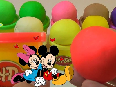 Massinha Play Doh mickey video how to make for children by DCTC Creative Kids Toys