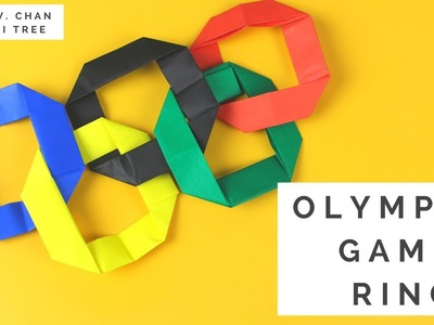 Olympics 2016 Kids Paper Crafts - Easy Origami Ring - Olympic Games Interlocking Rings