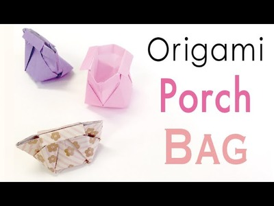 Origami Paper Bag✨Makeup Case✨ Vanity Porch♡ - Origami Kawaii〔#147〕