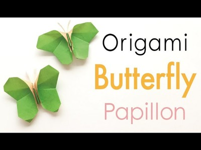 Origami Paper Butterfly Papillon Instruction - Origami Kawaii〔#144〕