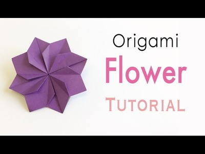 Origami Paper Double Square Flower - Origami Kawaii〔#157〕