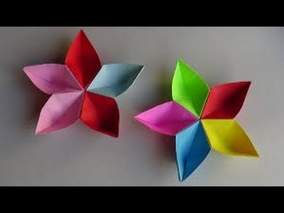 Origami Paper Flowers |  Easy Origami Flower Tutorials