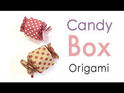 Origami Paper Hexagon Candy Shape Gift Box Tutorial - Origami Kawaii〔#159〕