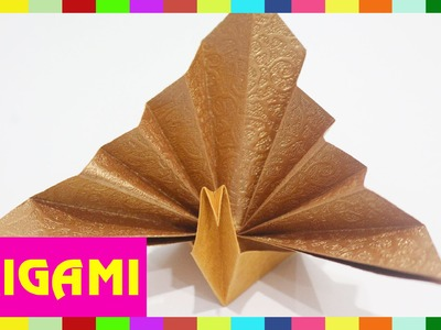 Origami Peacock - How To Fold Peacock  (Kasumi Paper)