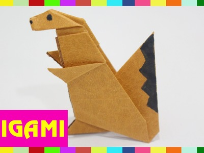 Origami Squirrel - How To Fold Squirrel  (Kasumi Paper)