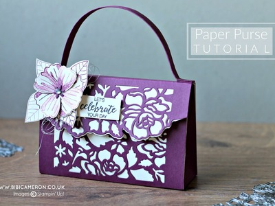 Paper Purse Detailed Floral Thinlits Stampin Up