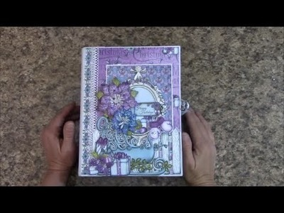 PART 1 TUTORIAL  HOLIDAY MINI ALBUM USING HEARTFELT CREATIONS PAPER   DESIGNS BY SHELLIE